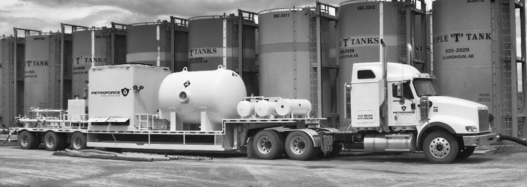 Frac Fluid Heating Truck with Tanks